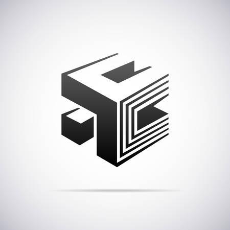 letter e: Logo for letter E design template vector illustration