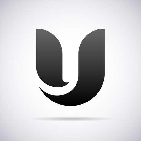 U 文字デザイン テンプレート ベクトル図のためのロゴ