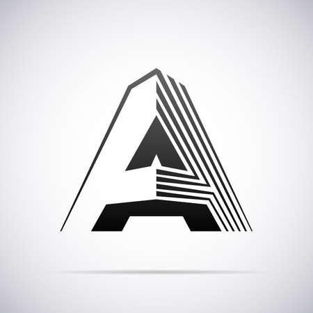 for design: Logo for letter A design template vector illustration