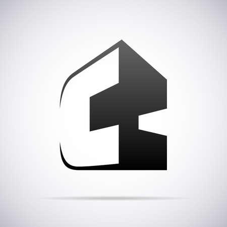 tipos de letras: Logotipo de la letra C plantilla de diseño ilustración vectorial