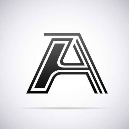 tipos de letras: Logotipo de la letra A de diseño de plantilla ilustración vectorial Vectores