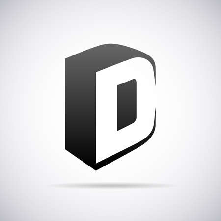 Logo for letter D design template vector illustration Çizim