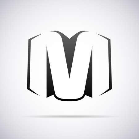 m: Logo for letter M design template vector illustration