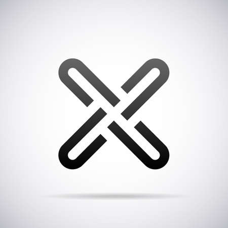 Logo for letter X design template vector illustration Çizim