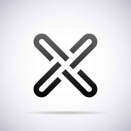 Logo for letter X design template vector illustration Illustration