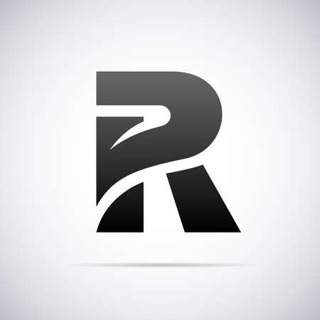 Logo for letter R design template vector illustration Ilustrace