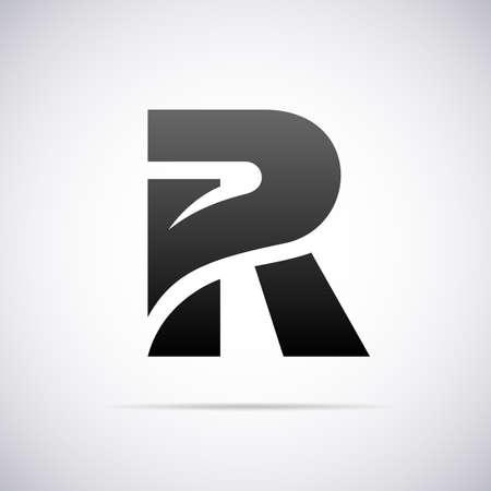 R デザイン テンプレート ベクトル図のためのロゴ