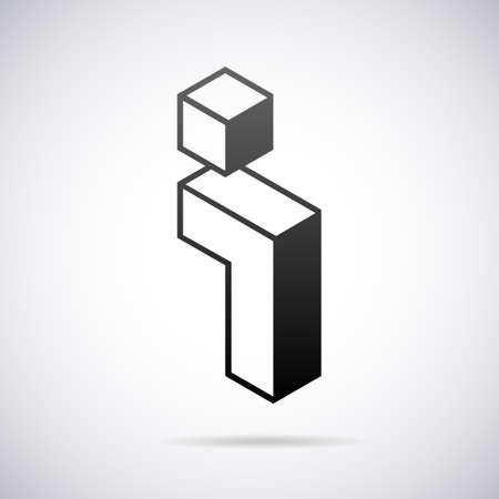 a i: Logo for letter I design template vector illustration Illustration