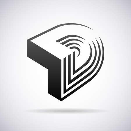 Logo voor letter D design template vector illustratie Logo