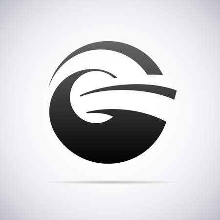 Logo for letter G design template vector illustration Ilustrace