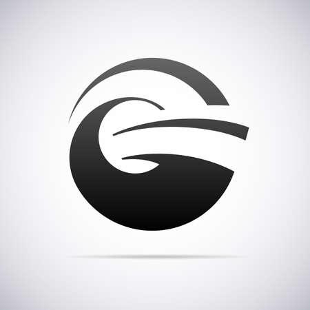 tipos de letras: Logotipo de la letra G plantilla de diseño ilustración vectorial
