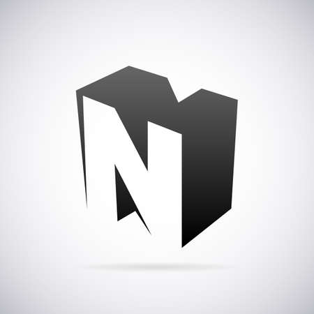 letter n: Logo for letter N design template vector illustration