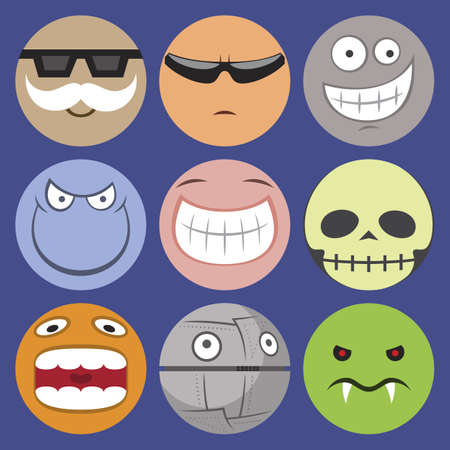 smilie: Vector set of smilie characters