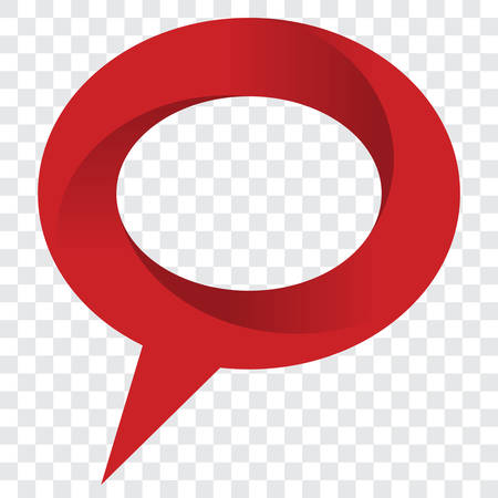 red sign: Vector red speech bubble sign vector illustration