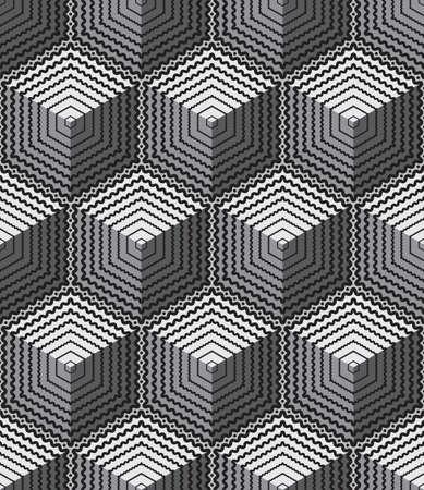 geometrical: Abstract vintage seamless pattern background vector illustration Illustration