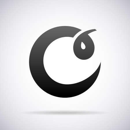 Logotipo de la letra C plantilla de diseño ilustración vectorial