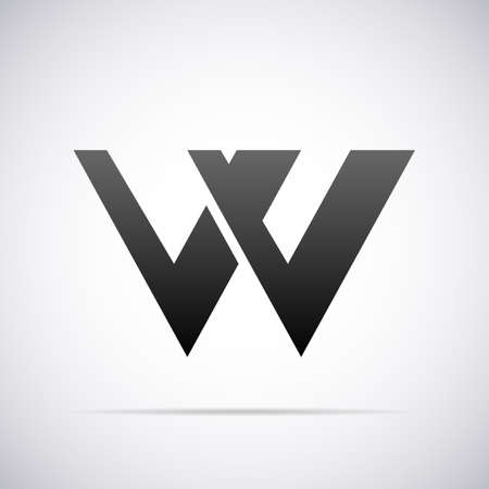 letter: Logo for letter W design template vector illustration