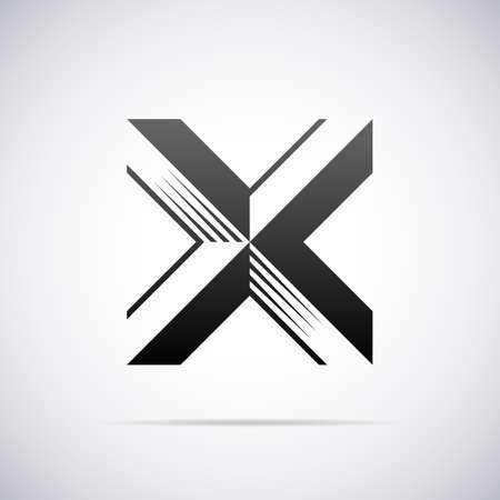 letter x: Logo for letter X design template vector illustration Illustration
