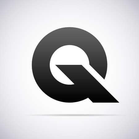logos de empresas: Logotipo para la letra Q plantilla de diseño ilustración vectorial Vectores