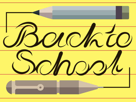 sign  childhood: Back to school background, illustration. Design template Illustration
