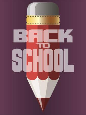 Back to school background, illustration. Design template Çizim
