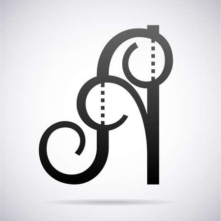 Letter A icon design template element