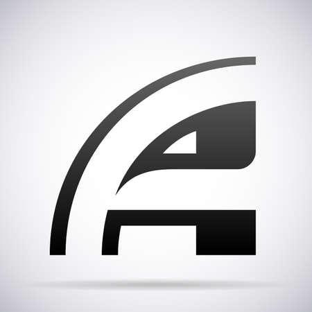 Carta Un logotipo del icono del elemento de plantilla de diseño
