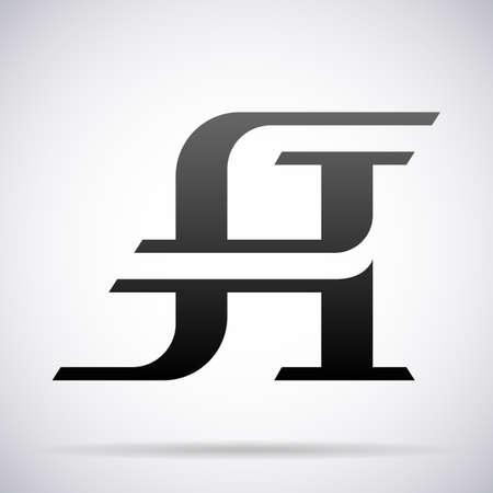 Letter A logo icon design template element