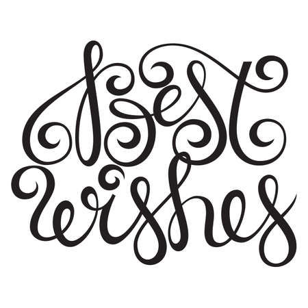 Best wishes lettering typography vector design Çizim