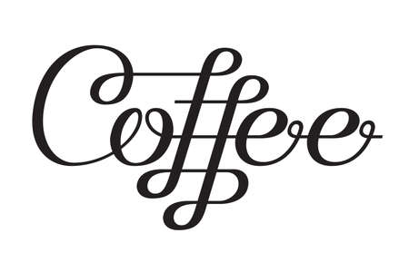 Coffee lettering design template