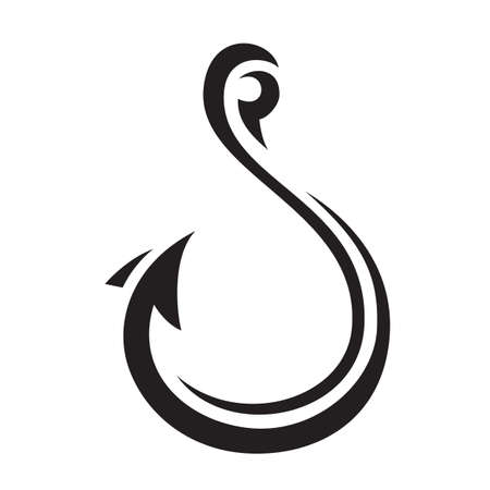 Hook icon vector illustration Çizim