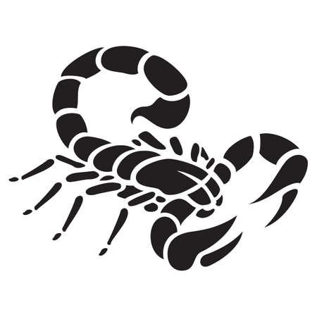 Scorpio tattoo vector illustration