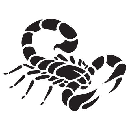 Scorpio tattoo vector illustration