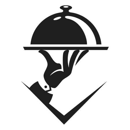 Food service vector logo design template