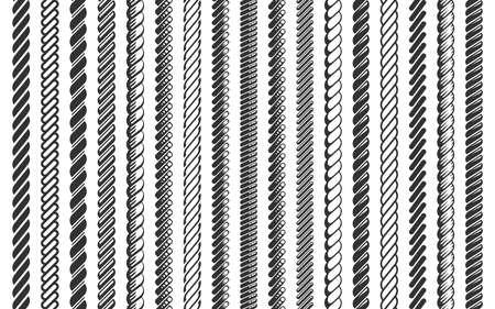 Rope pattern brush set vector illustration Ilustração