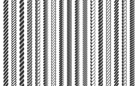 Touw patroon borstel set vectorillustratie