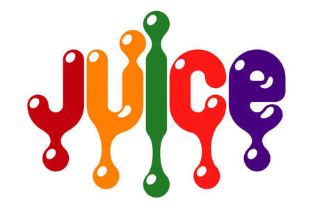 Fruit juice colourful design pattern. Vector illustration Stok Fotoğraf - 106006605