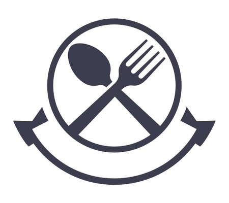 Food service vector logo design template Stok Fotoğraf - 151197296