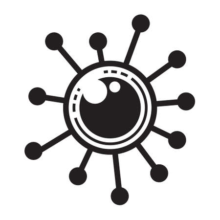 Coronavirus 2019-nCoV sign vector illustration Stok Fotoğraf - 151197300