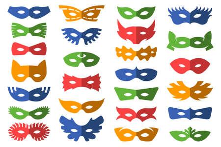 Set of masks for masquerade Stok Fotoğraf - 151197302