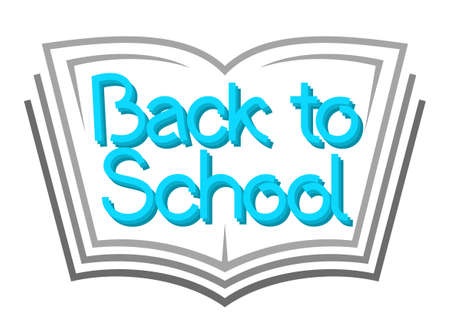 Back to school text on book. Knowledge day sign Stok Fotoğraf - 151197367