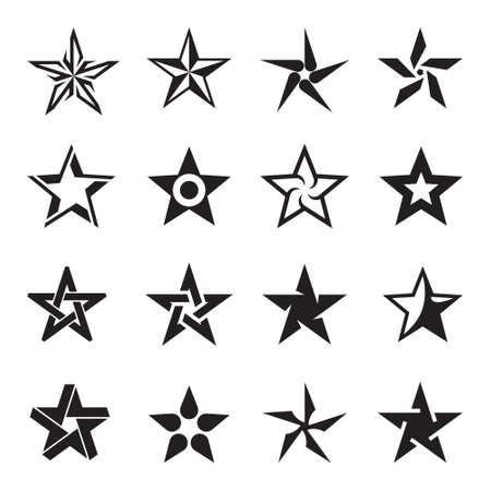 Star icon set Çizim