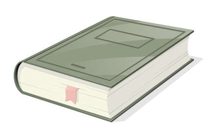 Isometric view book with bookmark