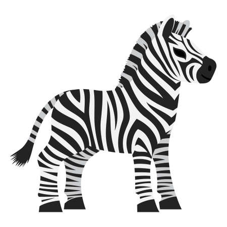 Cute baby zebra animal cartoon kawaii character