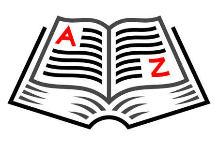 Book knowledge concept symbol. Vector illustration