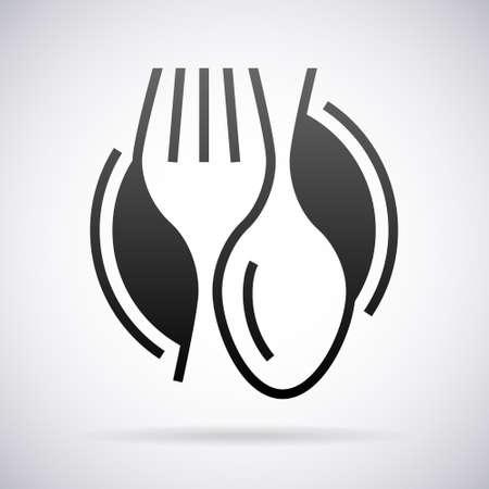 Food delivery service vector logo design template Stok Fotoğraf - 151586655