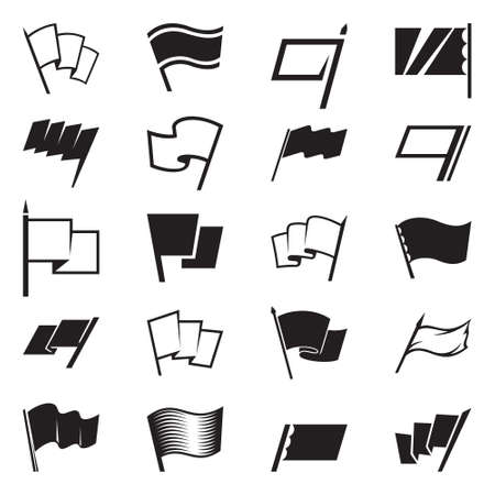 Flag icon and signs set