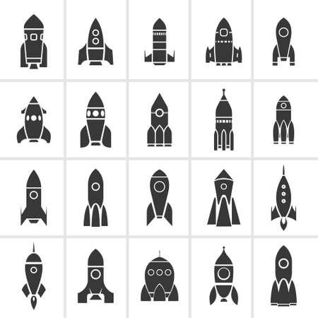 Rocket sign icons set Stok Fotoğraf - 151808584