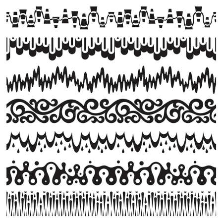 Decorative pattern brush set
