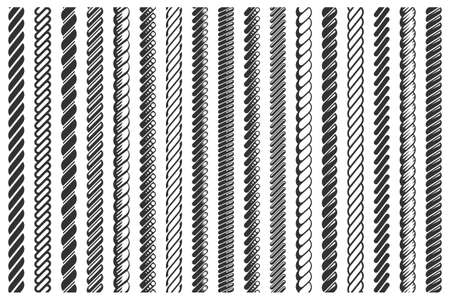 Rope pattern brushes set